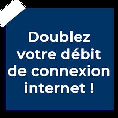 débit de connexion internet